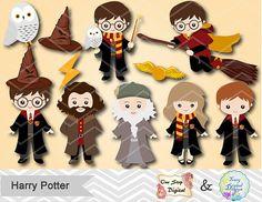 Instant Download Harry Potter Clipart Digital by OneStopDigital