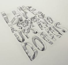 """""""3D Typography"""", a nice set of 3D lettering of British graphic designer Lex Wilson, based in London and passionate about typography, who plays here with perspec"""