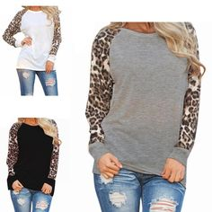 We love the leopard detail on this long sleeve top! Such a cute twist on an everyday tee!! At only $11.99 they are a steal and would make a great gift too!