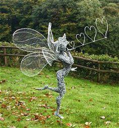 Incredible Fairy Wire Sculptures Turn Any Backyard Into A Magical Garden.