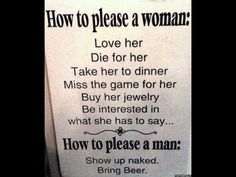How to please a woman....