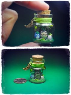 Totoro in a tiny glass jar