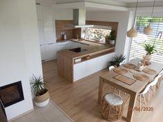 Kitchen Layout Plans, Kitchen Pantry Design, Modern Kitchen Design, Home Decor Kitchen, Interior Design Kitchen, Home Kitchens, Open Plan Kitchen Living Room, Home Room Design, Cuisines Design