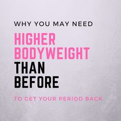 When you're working on getting your weight up to recover from hypothalamic amenorrhea, you may get worried when you're getting closer to your previous weight but still don't see your period.