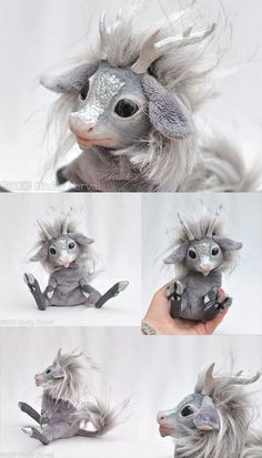 Fantasy | Whimsical | Strange | Mythical | Creative | Creatures | Dolls | Sculptures | ☥ | Leif the Silver Kirin by Magweno.deviantart.com on @deviantART