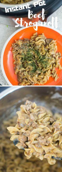 Instant Pot Beef Stroganoff / Easy Beef Stroganoff / Beef Stroganoff / instant pot recipes /instant pot / instant pot recipes /pressure cooking / instant pot beef recipes