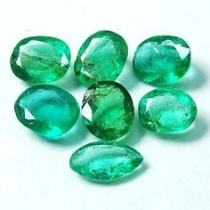 Wholesale price 1.13 Ct/7 pcs~Deluxe Quality Natural Colombian Emerald Gemstones
