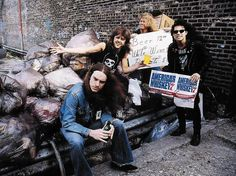 Cliff Burton, Lars Ulrich, James Hetfield & Kirk Hammett