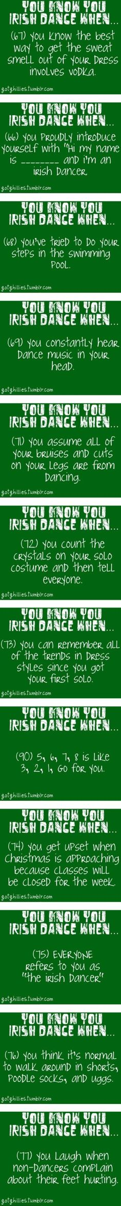 Then im an irish dancer...