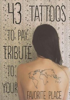 43 Rad Tattoos To Pay Tribute To Your Favorite Place - BuzzFeed