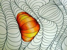 optical drawing done with colored pencils. definitely trying this out sometime