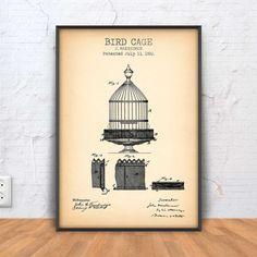 BIRD CAGE patent print Bird Cage Poster Bird Cage Printable