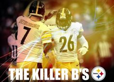 ben and bell, part of the killer b's for the pittsburgh steelers in 2014.  from the unlikely orange