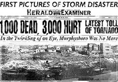 The Tri-State Tornado of Wednesday, March 18, 1925, was the deadliest tornado in U.S. history.