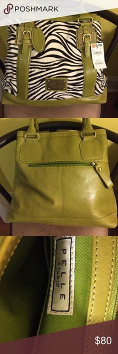 Pelle Studio Handbag Pelle handbag, NWT, received as a gift and never used. Price tag $129.00 from Wilsons Leather. PELLE Bags