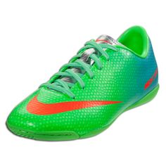 Nike Mercurial Victory IV IC Junior - Neo Lime Metallic Silver Polarized  Blue  44cc5708d01f9