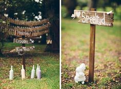 We're spoilt for gorgeous weddings this week, as today I get to share an enchanting forest fairytale from the fantastic Sybrand Cillié. Inge and Ruan wanted a whimsical woodland wedding, and … Wooden Wedding Signs, Wedding Signage, Woodland Wedding, Fairytale, Whimsical, Place Card Holders, Wedding Ideas, Weddings, Bride