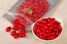 Whether you're looking for wedding favors or a tasty snack in your favorite color, these extra fine Jordan almonds are delicious! Made with roasted California Almonds and covered in a bright red candy coating, you'll love snacking on these almond treats. Plus, a 1 lb bag is only $5.95!