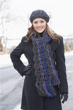 Loops & Threads Crochet Scarf