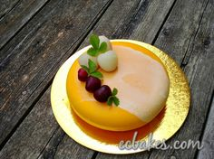 Here is another mirror glazed cake I made for my mom's birthday. The mango mousse recipe was taken from Mango Gâteaux.I paired it up with Vanilla Chiffon Cake as well as a mirror glaze that contai…