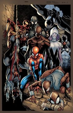 #Spiderman #Fan #Art. (Spider-Verse Variant Cover) By: Humberto Ramos, colours By: Edgar Delgado. (THE * 5 * STÅR * ÅWARD * OF: * AW YEAH, IT'S MAJOR ÅWESOMENESS!!!™)[THANK Ü 4 PINNING<·><]<©>ÅÅÅ+(OB4E)