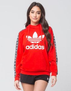 Tilly's ADIDAS Trefoil Sleeve Womens Hoodie Found on my new favorite app Dote Shopping #DoteApp #Shopping