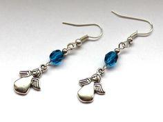 Kolczyki z aniołkami w Especially for You! na http://pl.dawanda.com/shop/slicznieilirycznie #kolczyki #earrings #crystals #kryształki #handmade #DaWanda #angels #aniołki
