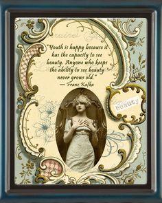 Beauty Motivational Art Nouveau Print by ChezLorraines on Etsy, $18.00