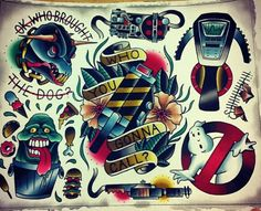 Ghostbusters flash sheet watercolor painting by, Swarm