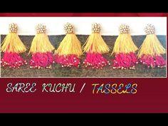 New Double Colour Saree Kuchu /Tassels Making - YouTube