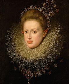 Erzherzogin Anna (1585-1618) von Tirol, Tochter von Erzherzog Ferdinand II. von Tirol, Gemahlin von Kaiser Matthias, circa 1604