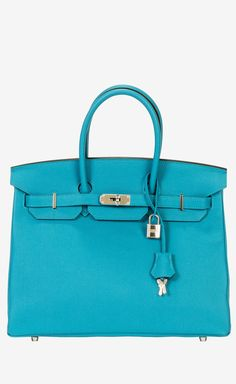 Hermès Turquoise Handbag | VAUNTE...If I had twenty grand to spend on a handbag!