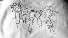 My kids love to draw. And they draw me LOTS of pictures. Some I toss while they are sleeping (I don't want to break their lit. Drawing For Kids, Art For Kids, Craft Patterns, Sewing Projects, Diy Projects, Embroidery Stitches, Needlepoint, Needlework, Character Design