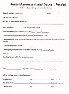 Printable Sample Free Printable Rental Agreements Form  Free Rental Lease Agreement Forms