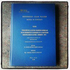 Esta es mi tesis de maestría, la pueden leer en la biblioteca de la Universidad César Vallejo de Los Olivos en Lima, Perú.