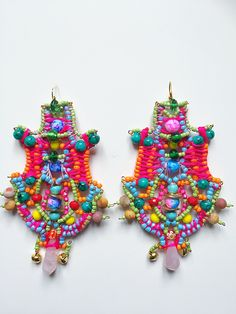 Alexi Earrings by Anita Quansah London Beaded Jewelry, Handmade Jewelry, Jewellery, Jewelry Patterns, Jewelry Ideas, Unique Words, Confident Woman, Bead Art, Statement Jewelry
