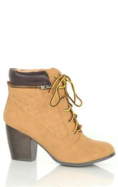 lace up stubbed heel boot love/ want these