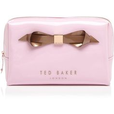Ted Baker Cosmetic Case - Amelia Slim Bow (240 CNY) ❤ liked on Polyvore featuring beauty products, beauty accessories, bags & cases, bags, makeup, beauty, makeup bags, accessories, ted baker and travel bag