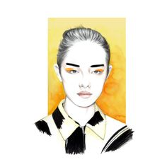 Caroline Andrieu Fashion illustrations Caroline has been the art director of Condé Nast Digital France, for Vogue and GQ websites during five years after her graduation in Graphic Design from the. Celine, Face Illustration, Student Fashion, Art Photography, Fashion Illustrations, Creative, Artwork, Fashion Design, Behance