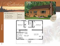 Great offering for a vacation cabin property. Allows for a large front porch Very simple to adapt Open concept/Great room Modular Cabins, Prefab Cabins, Modular Floor Plans, Cabin Floor Plans, Stratford Homes, Open Concept Great Room, U Shaped Kitchen, Building A House, Building Ideas