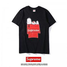 9ec06b0952 シュプリーム スヌーピー 半袖Tシャツ 男女兼用 カップル ホワイト ブラック ペア シュプリーム Tシャツ 可愛い Snoopy