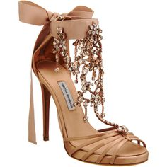 Tabitha Simmons Evita (7.820 BRL) ❤ liked on Polyvore featuring shoes, sandals, heels, sapatos, zapatos, embellished sandals, nude high heel shoes, ankle tie sandals, t strap high heel sandals and nude shoes