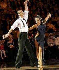 Elena Grinenko (here with Tony Dovolani  -  Dancing With the Stars pro  -  seasons...3 with Tucker Carlson...4 with Clyde Drexler