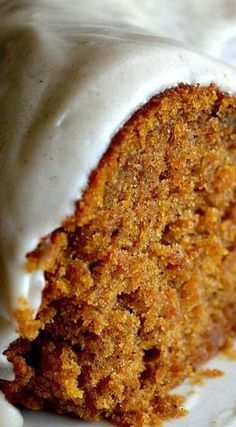 Pumpkin Spice Buttermilk Cake with Cinnamon Cream Cheese Frosting - If you're a pumpkin fan then this one's for you. It's a keeper. It's moist and full of flavor!