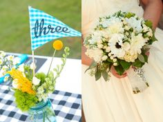 love the flag table numbers - super simple DIY too!