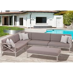 Found it at Wayfair - Pasadena 3 Piece Sectional Seating Group with Cushion