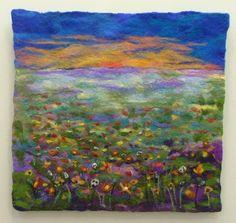 Rachel Nicholson Cambodian Field Wool Felted wall art
