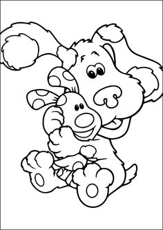 Blues Clues coloring pages on Coloring Bookinfo Coloring Pages