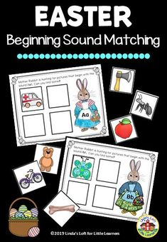 Encourage early learners to recognize letters and match beginning sounds with this engaging Easter Beginning Sounds Matching activity. Easter Activities For Preschool, Educational Activities For Preschoolers, Preschool Phonics, Circle Time Activities, Preschool Education, Preschool Activities, Phonemic Awareness Activities, Beginning Sounds, Little Learners