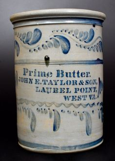 Extremely Rare PRIME BUTTER / LAUREL, POINT, W. VA